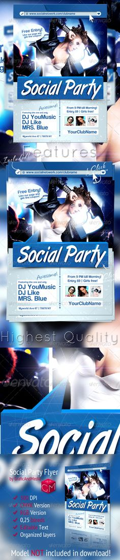 Social Party Flyer Template