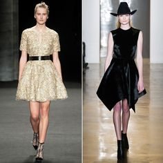 Team Your Mini-dress with Ankle Boots  This combo gives a feminine party dress a bit of an edge. But beware: a boot with a bare leg can shorten your stems, so look for a dress with an asymmetrical hemline or a boot with sheer lace insets (like the Monqiue Lhuillier boot, pictured left). Both will elongate your legs while giving off a too-cool vibe