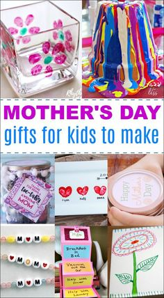 These DIY Mother's Day gifts are perfect for dad to make with the kids. There are also many cute gift ideas that would be appreciated by grandma and other moms in your life. Homemade Mothers Day Gifts, Mothers Day Gifts From Daughter, Mothers Day Crafts For Kids, Unique Mothers Day Gifts, Diy Gifts For Kids, Mothers Day Presents, Gifts For Family, Mother Gifts, Homemade Gifts