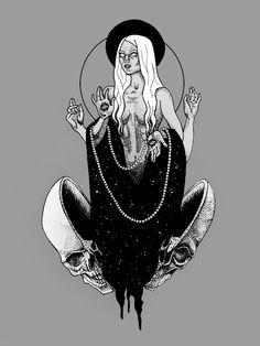 Cosmic witches.  By Alejandra Sáenz.
