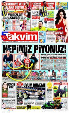 #20160526 #TürkiyeHABER #TURKEY #TurkeyTodayNEWSpapers20160526 Thursday MAY 26 2016 http://en.kiosko.net/tr/2016-05-26/ + http://www.trthaber.com/foto-galeri/gazete-mansetleri-26-mayis-2016/10576/sayfa-10.html <+> #TAKVIM20160526 http://en.kiosko.net/tr/2016-05-26/np/takvim.html