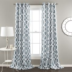 Lush Decor Edward Blackout Window Curtain Panel Pair
