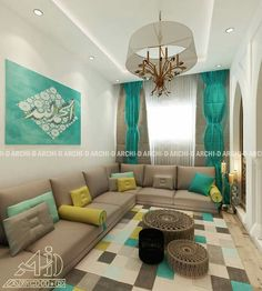 Exotic and Gorgeous Arabian Living Room Ideas. Arabian living room styles use beige as the base color and are used on all sides of walls and floors. You can apply decorative painting techniques . Home Room Design, Moroccan Living Room, Indian Home Decor, Interior, Home Interior Design, House Interior Decor, Floor Seating Living Room, Living Room Styles, Home Decor Furniture