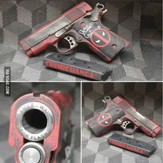 I love this!! Deadpool is one of my all time favorites and I would love to get this for my Gun collection!!