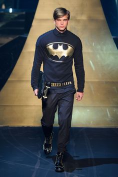 Philipp Plein Does Black, Leather & Superheroes for Fall