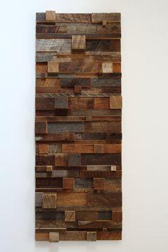 Reclaimed wood wall art 48x18x3.5 made of by CarpenterCraig, $420.00 Etsy