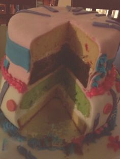 Inside my 4layer cake