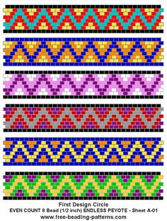 free-peyote-bead-pattern-A-01... Lots of free beading patterns here!!