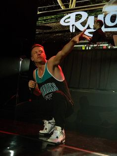 Macklemore wearing a sharks jersey hell yes :)