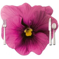 Flower #placemat with photo of a pansy. The table place mat is printed one side with a pink and the othe side with violet #pansy.  $5.53 - http://rosemarie-schulz.eu/en/203-pink-placemat-pansy-4250120270197.html