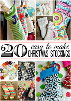 Add a personalized touch to your holiday with these 20 easy to make Christmas stockings! Your mantle would look great with any of these hanging from...