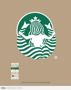Starbucks logo from the back...