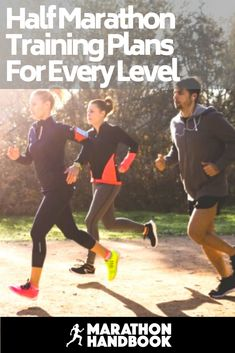 Grab a half marathon training plan - the PERFECT guide to get you through your half marathon training - different plans for every ability! Half Marathon Tips, Half Marathon Training Schedule, Running Half Marathons, First Marathon, Marathon Running, Running Humor, Running Motivation, Running Workouts, Running Tips