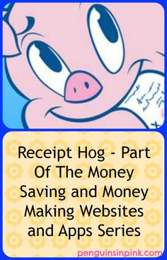 Receipt Hog - Part Of The Money Saving and Money Making Websites and Apps Series - The app that pays you for submitting grocery receipts! #shopping