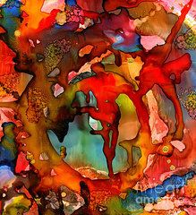 Alcohol Ink Paintings - Superman Cometh  by Angela L Walker