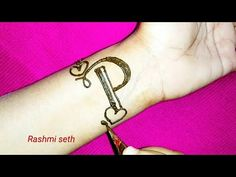 P Letter Mehndi Design Henna tattoo || Alphabet P Tattoo - YouTube