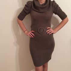 Sweater dress A nice shell sweater dress perfect for those holiday parties and refreshing fall weather, pairs perfect with nice dark boots Forever 21 Dresses Long Sleeve