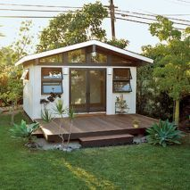 Incredible and cozy backyard studio shed design ideas (53)