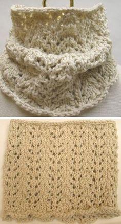 lacy neck warmer.  free pattern.