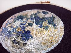 "sosuperawesome: "" Solar System and Planets Embroidery, by Ophelie Trichereau on Etsy See our 'embroidery' tag """