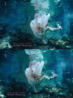 Underwater kiss - Which photo I shot first? Be smart!!! Trash The Dress in Mexico. #OasisDreamWedding