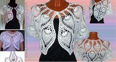 Maravillosa Capa Punto Piña a Crochet