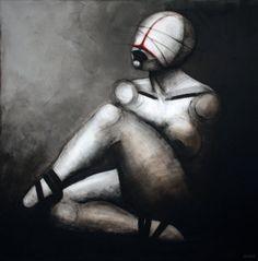Ballet dancer, 100x100cm, acrylic on canvas, 2014, painting, art, silhouette