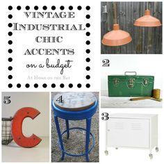 Vintage Industrial Chic Accents on a Budget