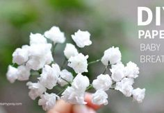 Super simple and realistic to make paper flower baby breath
