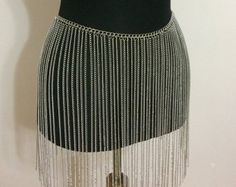 Silver Chain Skirt Body Jewelry Silver Belly Chain Silver
