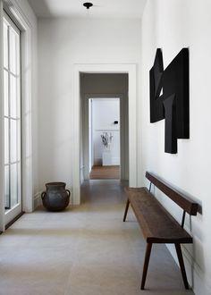 An Entertainment Veteran's L.A. Ode to Captivating Style | Architectural Digest Home Design, Design Entrée, Salon Design, Magazine Deco, Oval Table, Custom Sofa, Wooden Stools, Diy Décoration, Geometric Wall