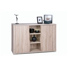 Villa Wooden Sideboard In Sanremo Oak With 2 Doors And LED Lighting provide sufficient storage space for your living or dining room Finish: Sanremo Oak Features: •Villa Wooden Sideboard With 2...
