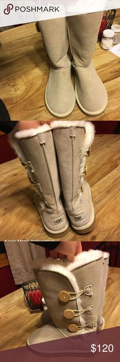Uggs Size 8: Bailey button tall. UGG Shoes Winter & Rain Boots