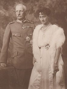 Antonia and her husband, Crown Prince Rupprecht of Bavaria.  She was her husband's 2nd wife.  As anti-Nazis, Antonia and Rupprecht were forced into exile in 1939 and fled to Italy.  Later, Antonia and the children moved to Hungary, where they were caught by the German Army and imprisoned in concentration camps.  Antonia never fully recovered from the effects of her imprisonment and died 9 years after her liberation from Dachau in 1945.