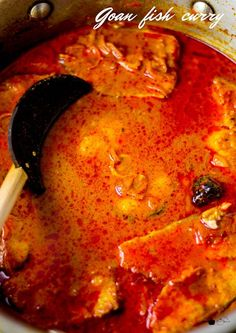Recipe for Goan Fish Curry made with home made goan fish curry paste and spices. Recipe with step by step pictures. Goan Recipes, Coconut Recipes, Veg Recipes, Curry Recipes, Pumpkin Recipes, Healthy Dinner Recipes, Crockpot Recipes, Dessert Recipes, Cooking Recipes