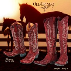 Sweet baby Jesus I want the Nevada boots! Red Cowgirl Boots, Red Boots, Cowboy And Cowgirl, Gypsy Style, Boho Gypsy, My Style, Old Gringo Boots, Southern Hospitality, Baby Jesus