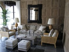 panelled walls, furniture selection