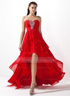 Prom+Dresses+-+$142.99+-+A-Line/Princess+Sweetheart+Asymmetrical+Chiffon+Prom+Dress+With+Beading+Cascading+Ruffles+(018004808)+http://jenjenhouse.com/A-Line-Princess-Sweetheart-Asymmetrical-Chiffon-Prom-Dress-With-Beading-Cascading-Ruffles-018004808-g4808?ver=1