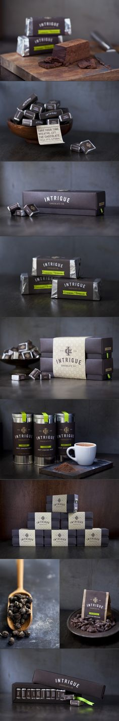 Intrigue Chocolate. Heart melting indulgence.