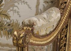 Armchair by Georges Jacob, (upholstery is in the style of: Philippe de Lasalle, 1780-85,