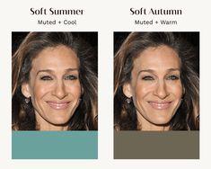 Soft Autumn Color Palette, Summer Color Palettes, Soft Summer Palette, Summer Colors, Soft Summer Makeup, Seasonal Color Analysis, Deep Autumn, Warm Spring, Season Colors