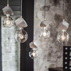 Подвесные светильники из бетона
