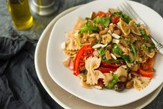 Bow Ties With Arugula, Olives, Bulgur and Tomato Wedges by Mark Bittman