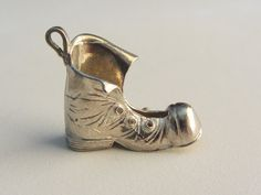 Sterling Silver Large Old Boot Pendant-One by SilverVintageCrafts