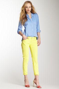 7 for All Mankind Roxanne Flood Jean by All American Uniform: Denim & Tees on @HauteLook