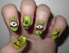 nail designs zombies - Google Search