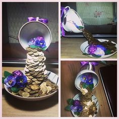 Парящая кружка с монетками))) #handmade #cup