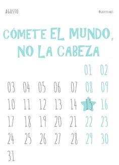 Calendario para imprimir, que el 2015 ya está aquí