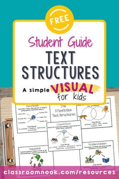 What a FREE Nonfiction Text Structure Reference Guide? Yep, grab this FREE reference guide to help students identify the text structure of what they are reading. The guide provides visual examples of each text structure as well as gives them clue words and phrases to look out for in the text that will help them identify each structure. Perfect for upper elementary students (3rd, 4th, 5th grade students)! Grab this FREE printable worksheet today to supplement nonfiction instruction! New Vocabulary Words, Vocabulary Practice, Reading Comprehension Strategies, Reading Resources, Elementary Teacher, Upper Elementary, Text Structure Examples, Third Grade Reading, Student Guide