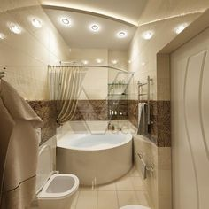 фото ванных комнат с угловой ванной и окном